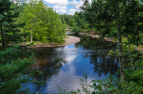 nikon7000 sun tamron nature landscape flow river woods water trees thornappleriver outdoor forest ruskcounty wisconsin clouds