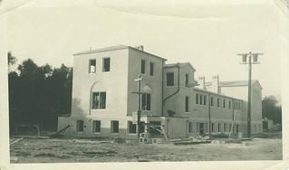 Mason Hall, under construction in 1923