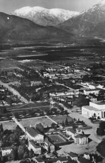 1935 aerial photo of Pomona College