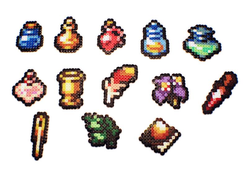 Final Fantasy Tactics Advance Items Made With Mini Hama Be Flickr