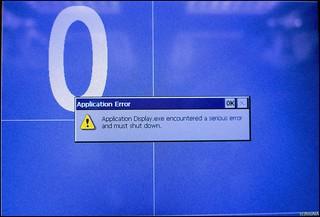 A serious error