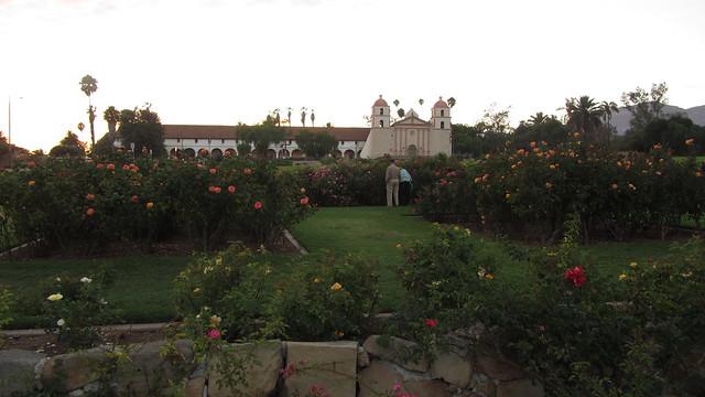 IMG_0729 Postel evening roses at Santa Barbara mission