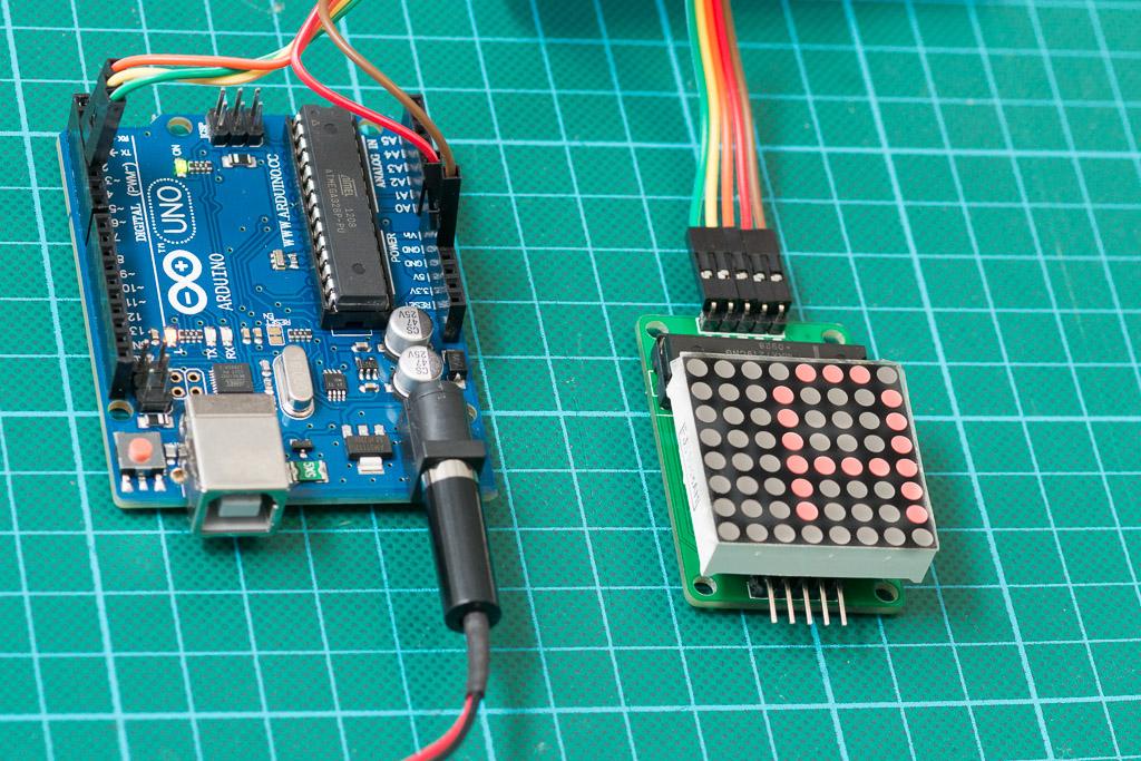 LED Matrix- Stupid Code | Here's the kit all soldered togeth