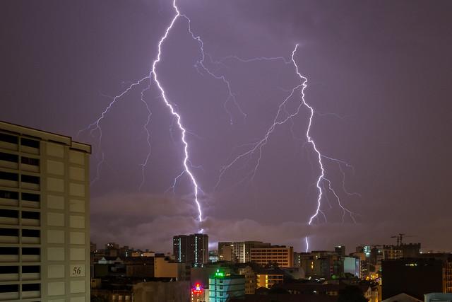 Lightning in Singapore