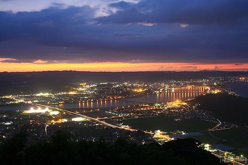 japan night saga 夜景 karatsu 佐賀 kagami 唐津 鏡山