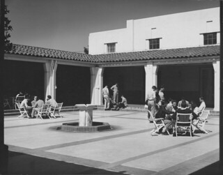 Hulbert Burroughs photo of the Edmunds Coop courtyard in 1950