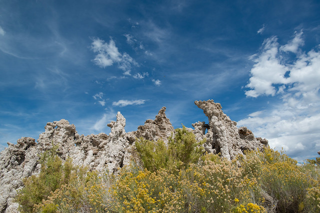 Nikon D800 :: Sky, Tufa, and Rabbitbrush