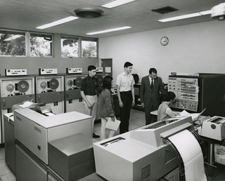 The Seaver Computer Center in Millikan Laboratory in 1967