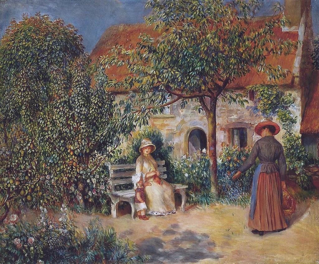 Pierre auguste renoir garden scene in brittany 1886 at the barnes foundation philadelphia pa
