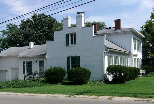 county ohio white house brick greek historic shutters urbana champaign federal brackets cornice revival italianate