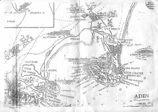 Map of Aden Yemen 1993 | When we visited Aden from Sana'a we
