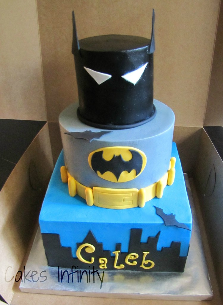 Sensational Batman Birthday Cake Vanilla Cake With Vanilla Buttercrea Flickr Personalised Birthday Cards Veneteletsinfo
