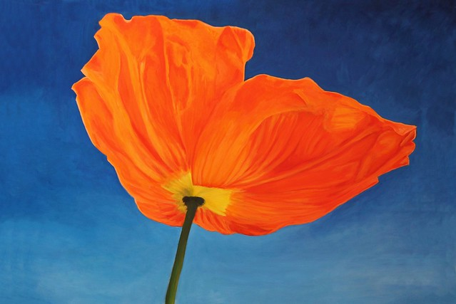 Artist Julie McGeer painted my Poppy, don't you think she did a great job ?  Thanks Julie