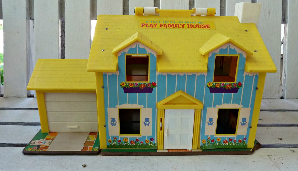 Vintage Fisher Price Little People Play House Heaven Help