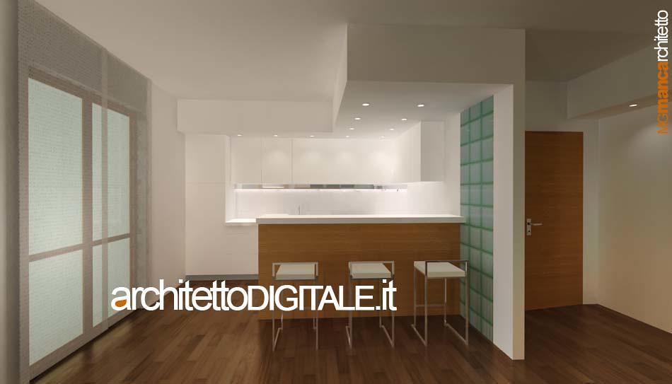 PROGETTO DI INTERNI DI UN APPARTAMENTO DI 75 MQ - VISTA 3D ...