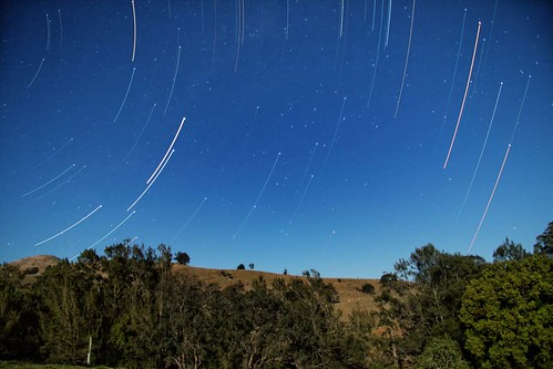 mountain stars bush hill australia southerncross scorpio gloucester nsw newsouthwales nightsky startrails pointers threepines bakerscreek