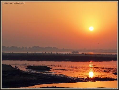 world pakistan sunset people orange nature beauty sunrise river photography exposure peace photographer scenic deep punjab jhelum