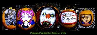 Halloween Facebook Banner -Pumpkin Paintings - Denise A. W ...