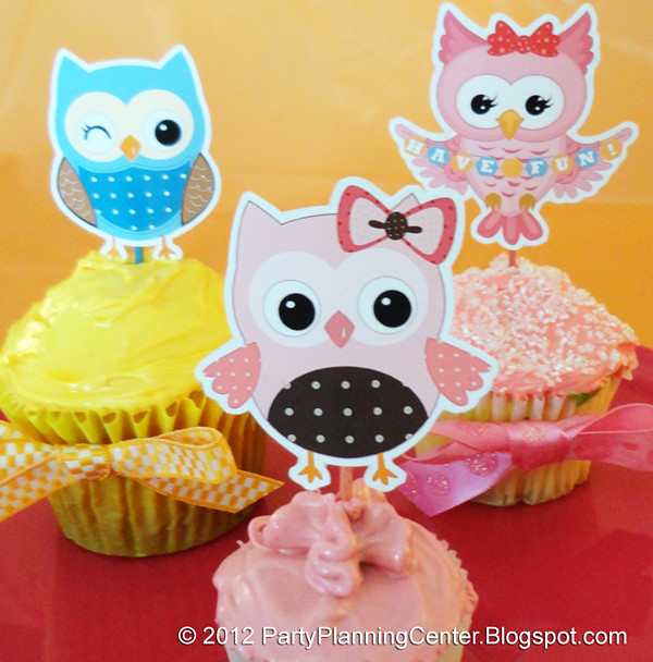 Printable Owl Cupcake Toppers | Free owl family cupcake ...