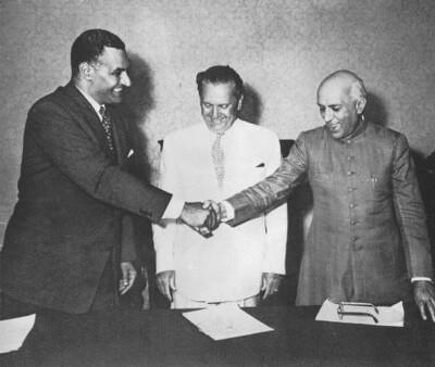 Brioni Declaration, 1956   Nasser, Tito, Nehru at the signin…   Flickr