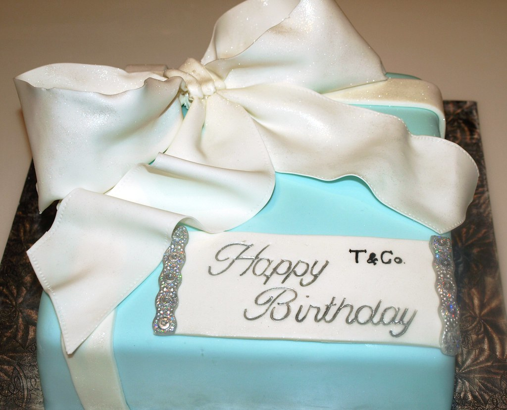 Marvelous Tiffany Blue Birthday Cake Tiffany Blue Birthday Cake Flickr Funny Birthday Cards Online Fluifree Goldxyz