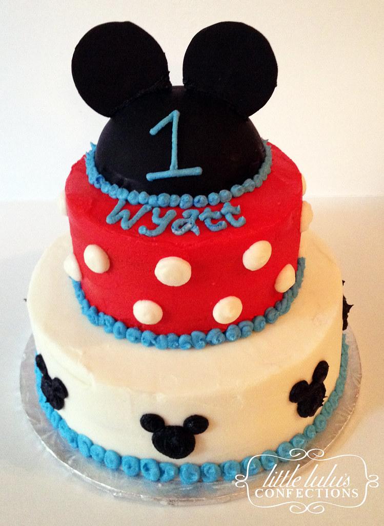 Excellent Mickey 1St Birthday Cake Jenny Brinkman Flickr Funny Birthday Cards Online Fluifree Goldxyz