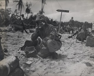 Lieutenant Colonel R.G. Ballance, Peleliu, 1944 | by Archives Branch, USMC History Division