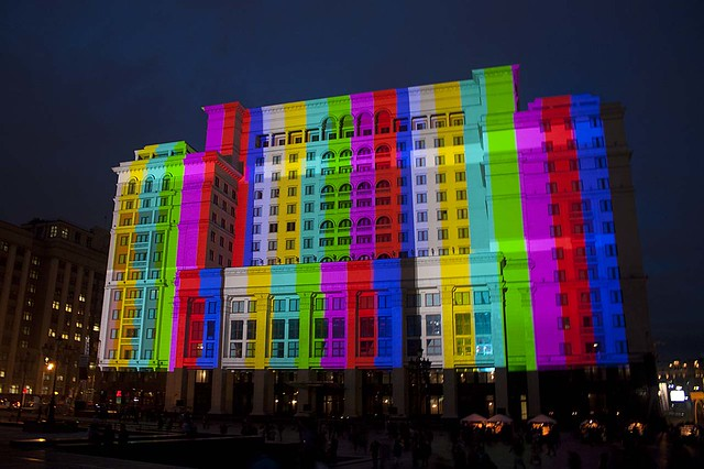 Moscow light show