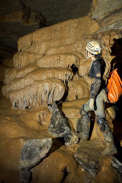 Flowstone, Emily Davis, Crownover Saltpeter Cave, Franklin Co, TN