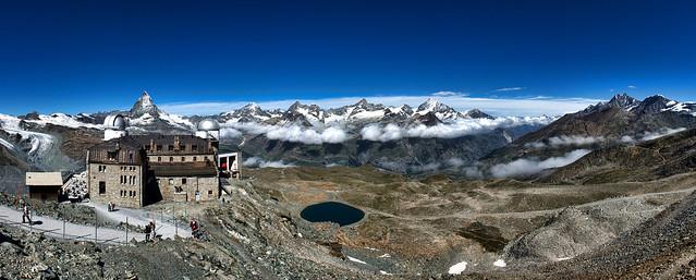 Observatory at Gornergrat and Matterhorn