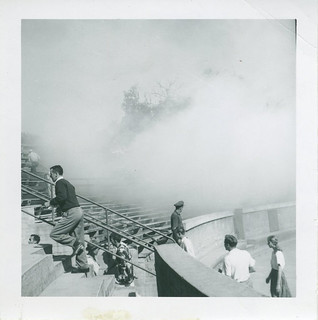 Fire damaged the bleachers of the Greek Theater on November 2, 1950.