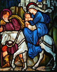 Flight into Egypt by Burne-Jones
