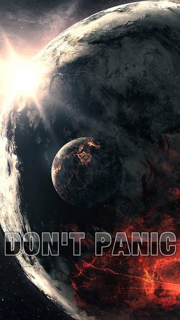 Dont Panic Wallpaper Iphone 5 Art By Qauz Spblat Flickr