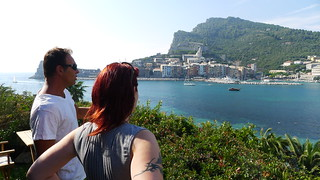 L. and Andrea looking at Portovenere from Isola Palmaria | by A Rain Dog, Too