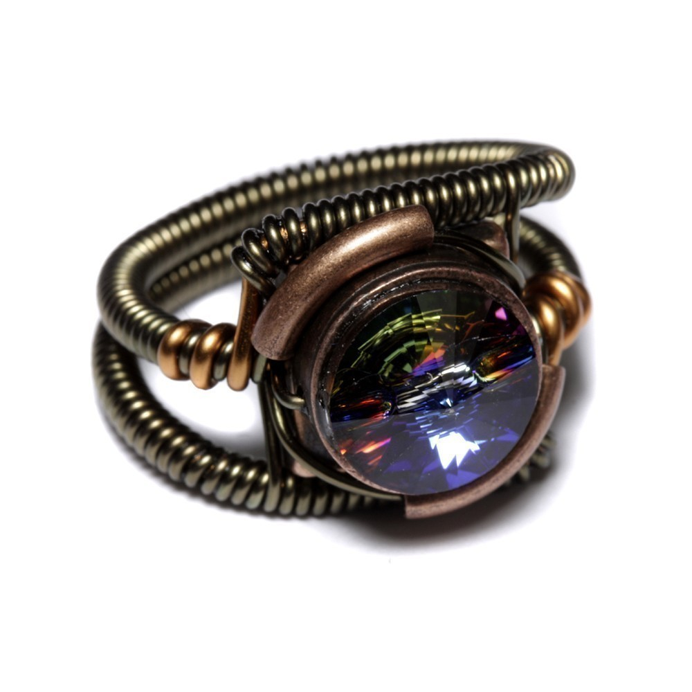RING Vitrail Svarovski Crystal Steampunk Jewelry