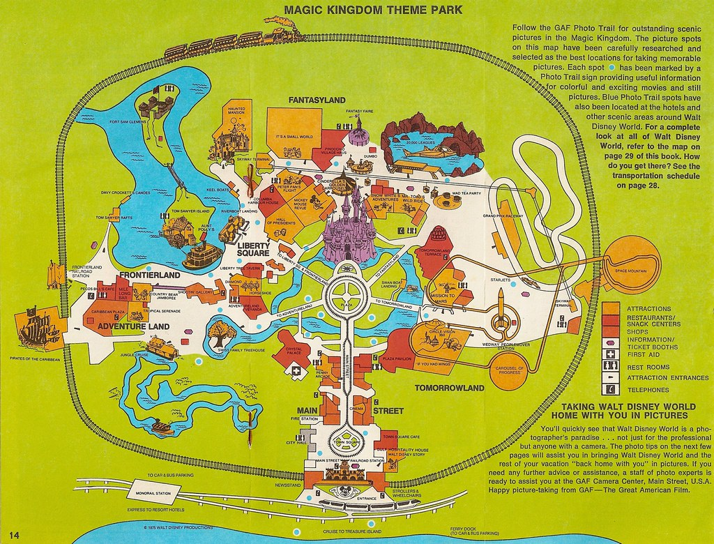 Magic Kingdom (1975) | Walt Disney World Orlando, FL © Disne ...