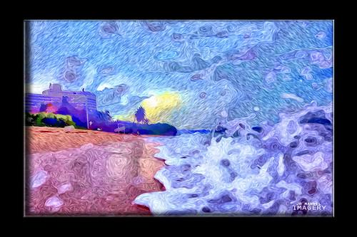 morning artistic guam tumon gunbeach pixelbender