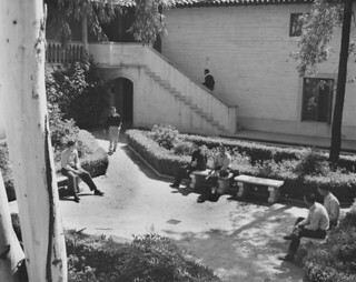 Clark Hall courtyard in 1946