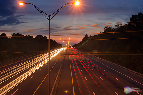 cars lights highway dusk interstate lightstreaks burlingtonnc nikond7000