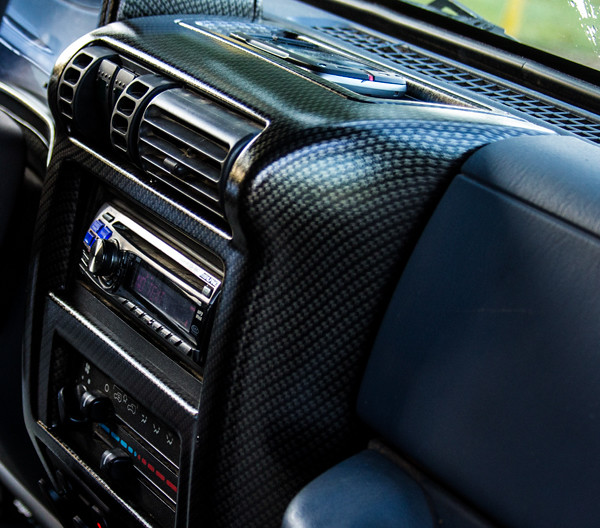 Carbon Fiber Print Applied To A Jeep Tj Dash Water Transfe Flickr