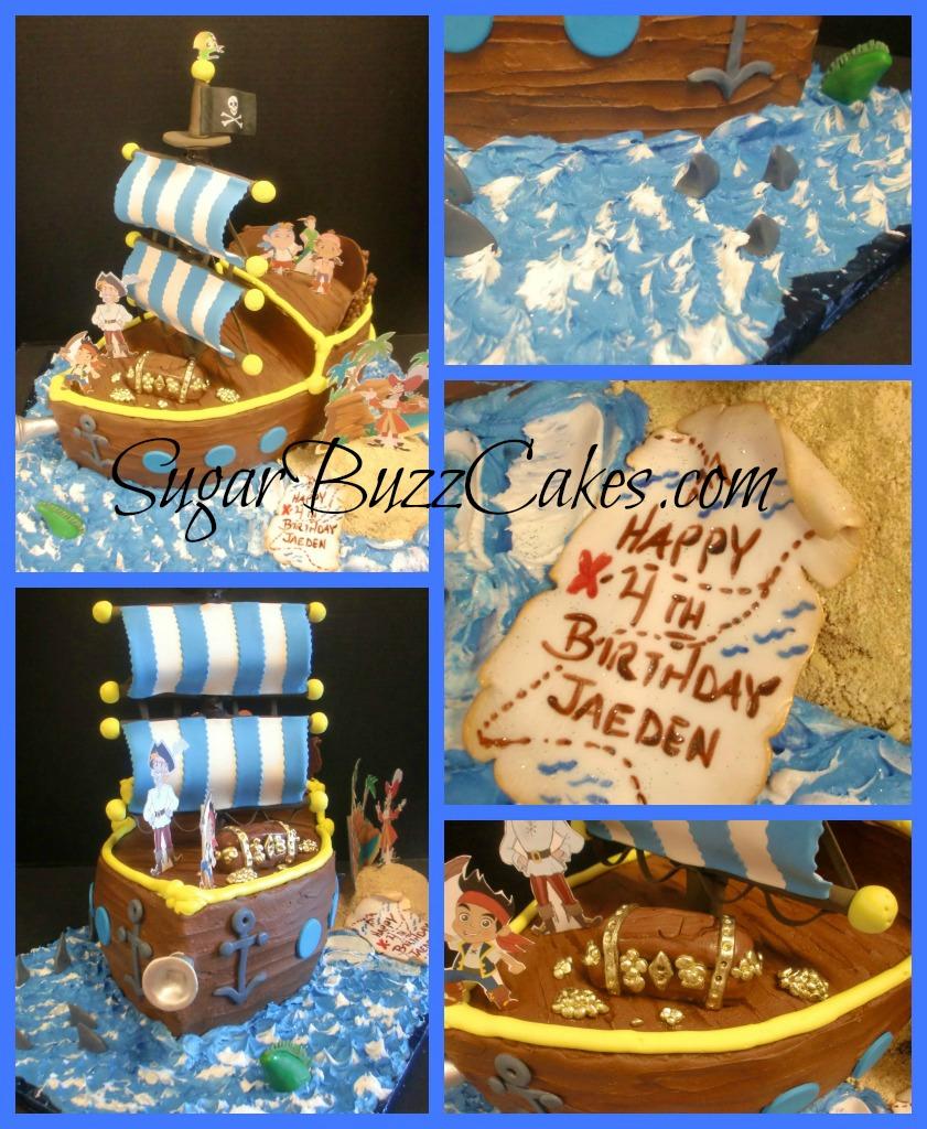 Phenomenal Jake The Neverland Pirates Birthday Cake Carol Flickr Personalised Birthday Cards Fashionlily Jamesorg