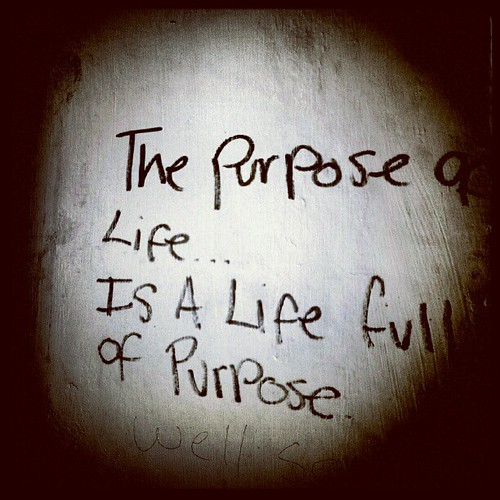 The purpose of a life is a life full of purpose #scouseschoolofphilosophy #graffiti #Liverpool | by western4uk