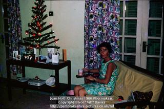 Joan Holt  Christmas 1966 Khormaksar.