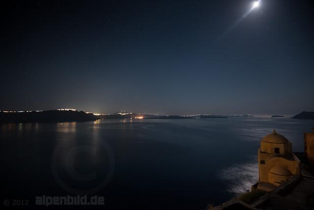 Bright Moonlit Night and Caldera