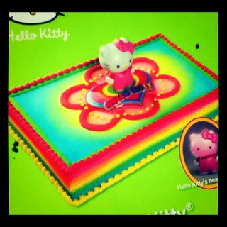 Outstanding Hello Kitty Rainbow Birthday Cake Spotted At Price Choppe Flickr Funny Birthday Cards Online Elaedamsfinfo