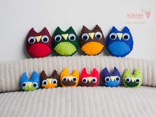 New owl broochs! | by Mimama Handmade