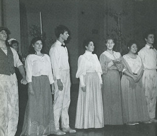 """Students in a skit about the citrus industry from """"Our Pomona: Stories from the First Century,"""" performed as part of the Centennial celebration"""