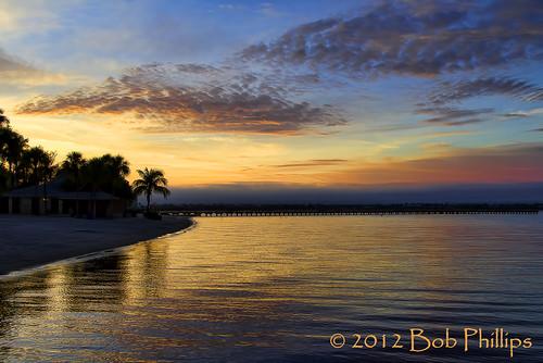 beach clouds sunrise pier palmtrees yachtclub capecoral caloosahatcheeriver