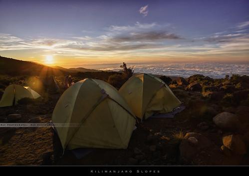 africa morning sun kilimanjaro mtkilimanjaro expedition sunrise trek canon tanzania rising climb tents top altitude climbing moutain hdr marangu ef1740f4l kilimandjaro uhurupeak rongai roofofafrica stellapoint 5895m topofafrica cloudssea summitmtkilimanjaro 5dmarkiii