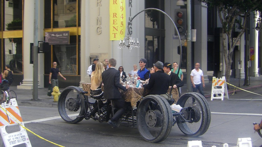 CicLAvia Steampunk Dinning Table Rig